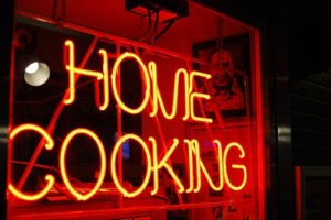 home-cooking sign